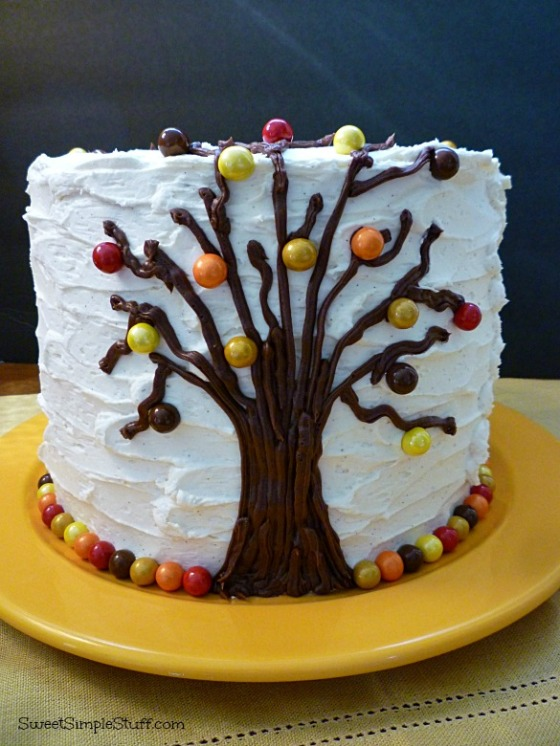 autumn tree cake sixlets