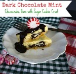 dark chocolate mint cheesecake bars