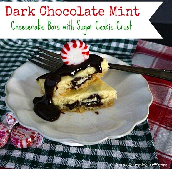 dark chocolate mint cheesecake bars