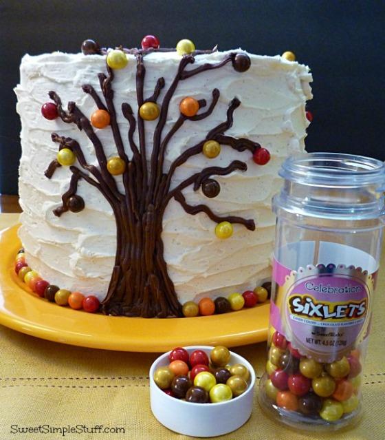 fall cake sixlets