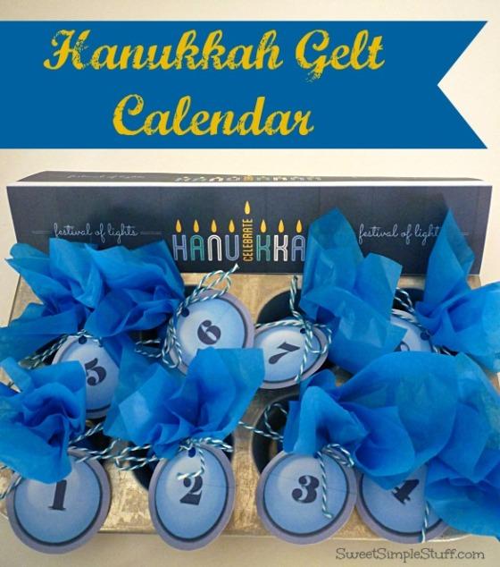 Hanukkah Gelt Calendar