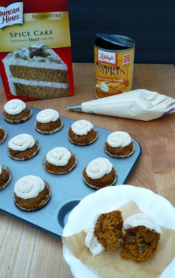 mini pumpkin pecan cupcakes