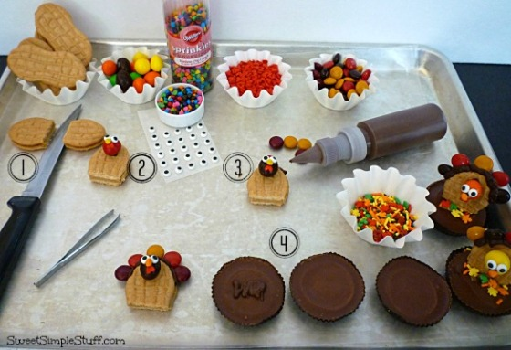 nutter butter peanut butter cup turkey instructions