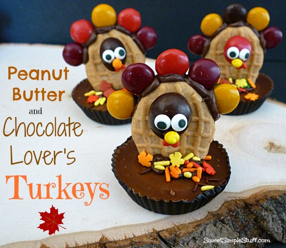 peanut butter and chocolate lover's turkeys