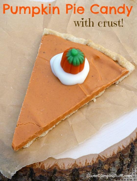 pumpkin pie candy with crust