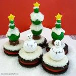 candy gum snowmen Christmas trees Oreos