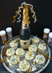 Chocolate Champagne Gumballs, Sixlets & Pearls Cupcakes