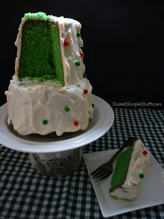 Christmas Tree Shaped Cake