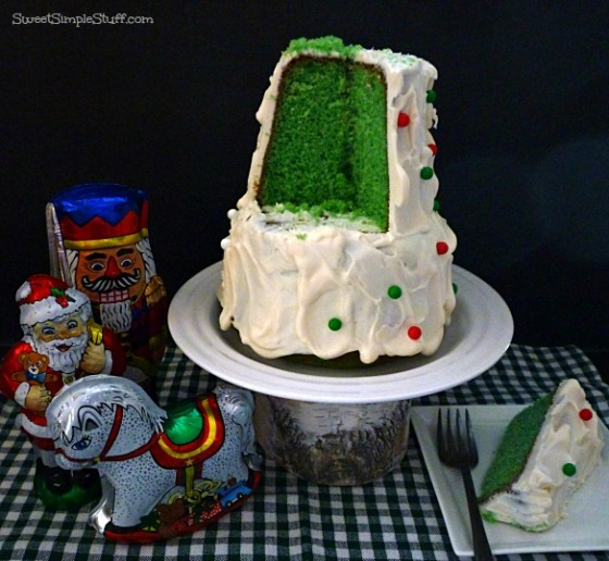 Green Tree cake 3-d