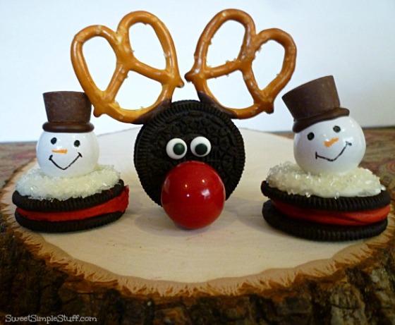 oreo gumball reindeer snowman