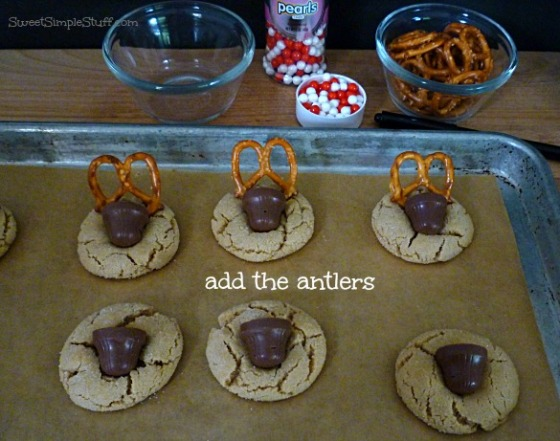 peanut butter blossom reindeer