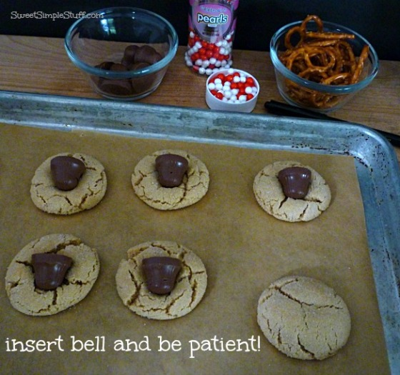 reindeer chocolate peanut butter cookies
