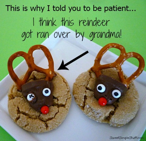 reindeer got ran over by grandma cookies