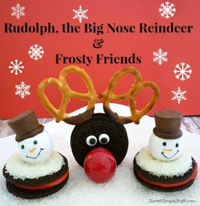 Rudolph big nose reindeer frosty friends