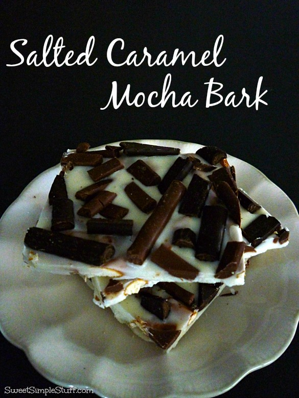 how to make salted caramel chocolate bark
