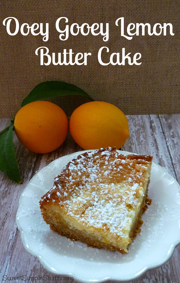 ooey gooey lemon butter cake
