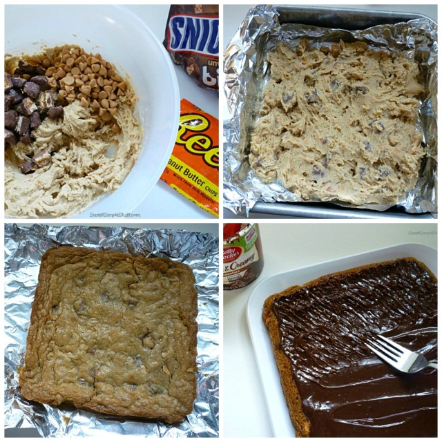 Snicker Peanut Butter Chip Cookie Collage
