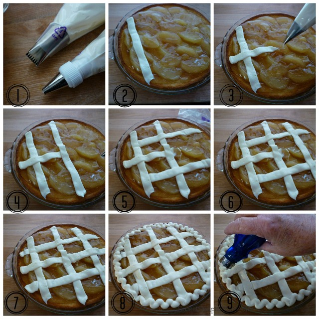 Apple Lattice Pie Cake