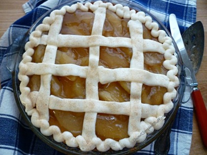 Apple Pie Lattice Cake