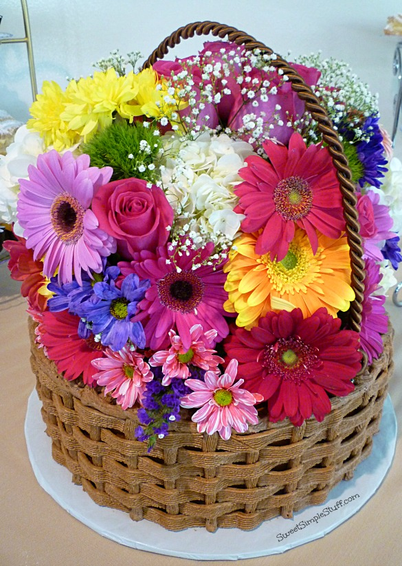 Flower Basket Mothers Day Cake : Basket of flowers cake sweet simple stuff