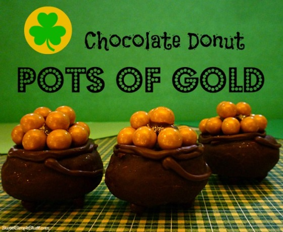 chocolate donut pots of gold