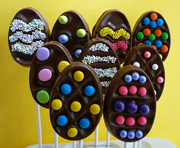 Chocolate Rice Krispie Egg Pops
