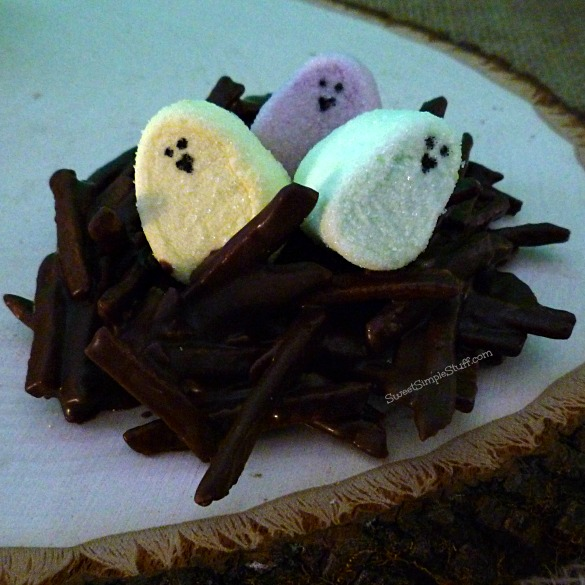 chocolate nest marshmallow chick eggs