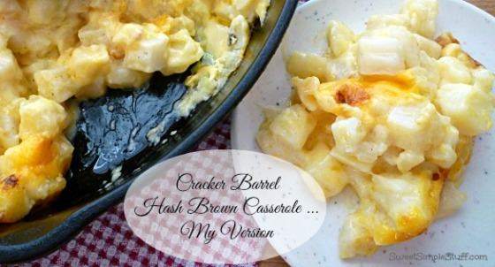 Cracker Barrel Hash Brown Casserole My Version
