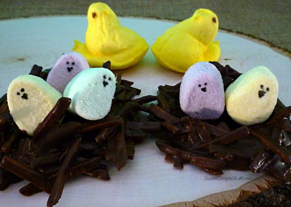Peep nests marshmallow chick eggs