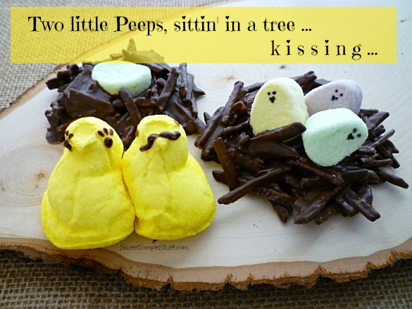 Peeps chocolate nests