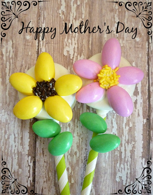 Happy Mother's Day Cookie Flower Pops