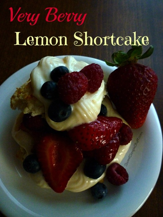 Very Berry Lemon Shortcake - SweetSimpleStuff.com