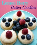 Lemon Berry Butter Cookies