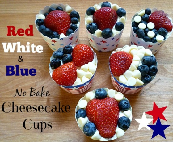Red White & Blue No Bake Cheesecake Cups