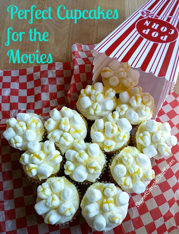 Perfect Cupcakes for the Movies - SweetSimpleStuff.com