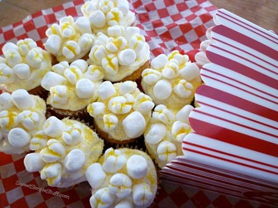 Popcorn marshmallow cupcakes - SweetSimpleStuff.com