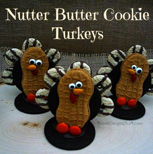 Nutter Butter Cookie Turkeys
