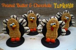 Peanut Butter & Chocolate Turkeys