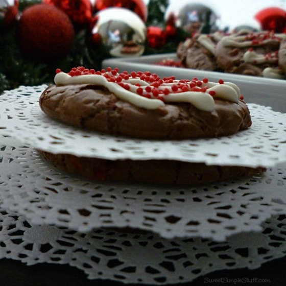 Double Chocolate Peppermint Cookie - SweetSimpleStuff.com