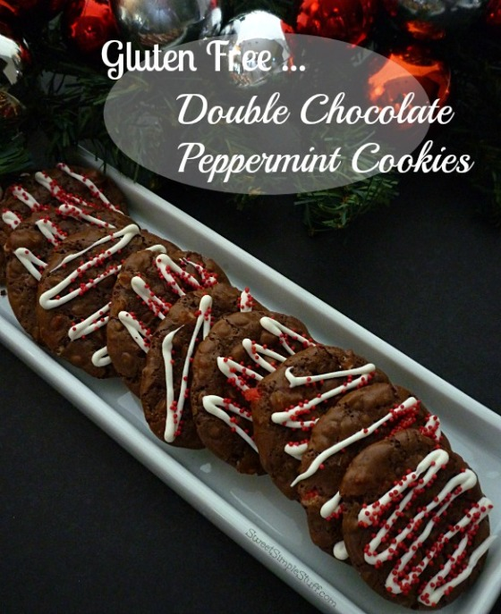 Gluten Free ... Double Chocolate Peppermint Cookies - SweetSimpleStuff.com