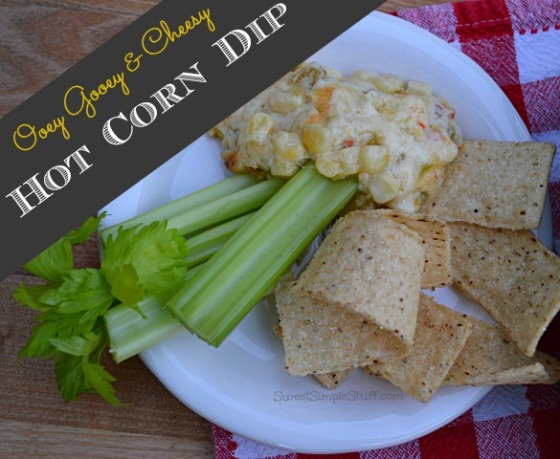 Ooey Gooey & Cheesy Hot Corn Dip - SweetSimpleStuff.com