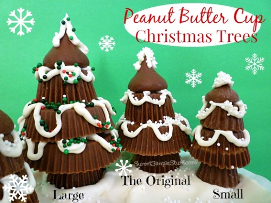 Peanut Butter Cup Christmas Trees from SweetSimpleStuff.com