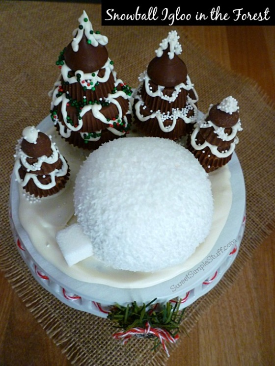 Snowball Igloo in the Forest - SweetSimpleStuff.com