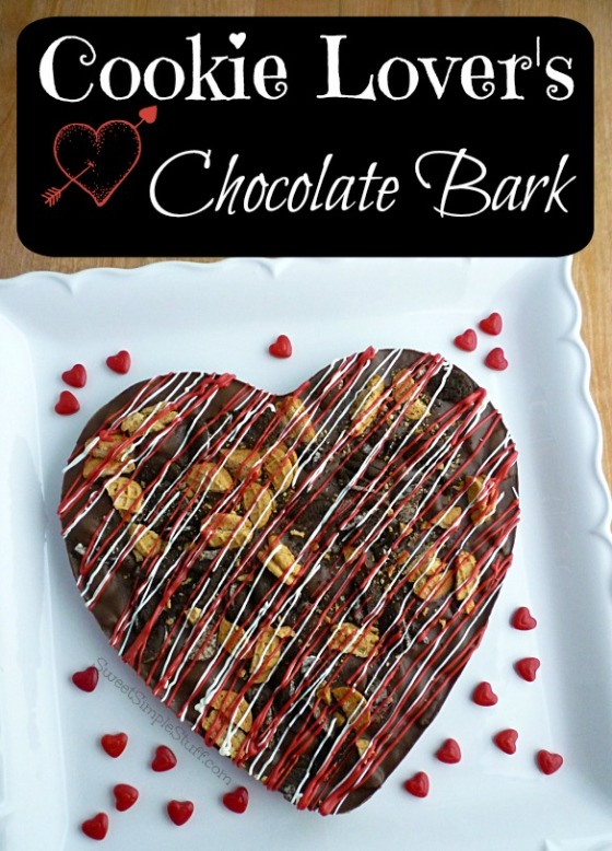 Cookie Lover's Chocolate Bark - SweetSimpleStuff.com