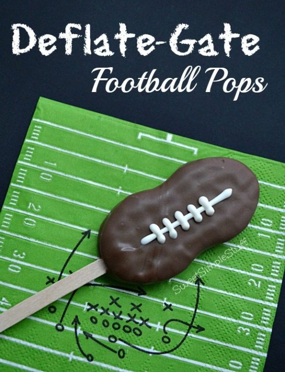 Deflate-Gate Football Pops - SweetSimpleStuff