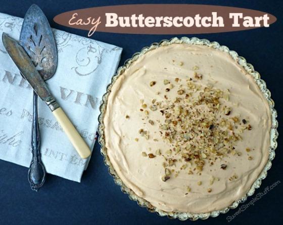 Easy Butterscotch Tart - SweetSimpleStuff.com