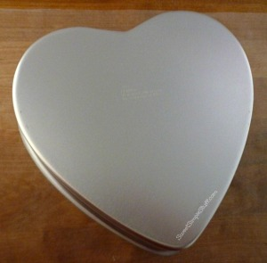 Heart pan chocolate - SweetSimpleStuff.com