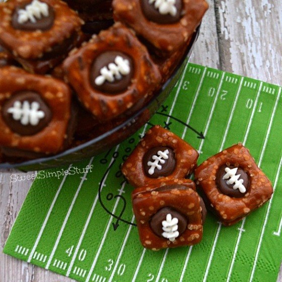 Rolo and Pretzel Footballs - SweetSimpleStuff