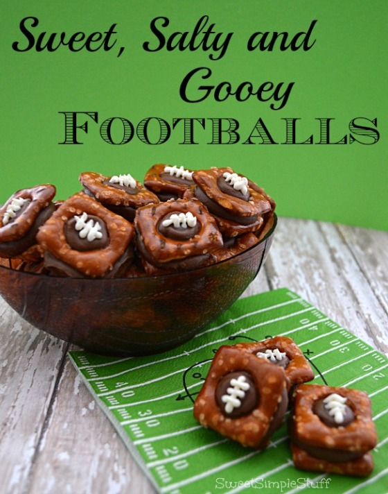 Sweet, Salty and Gooey Footballs - SweetSimpleStuff