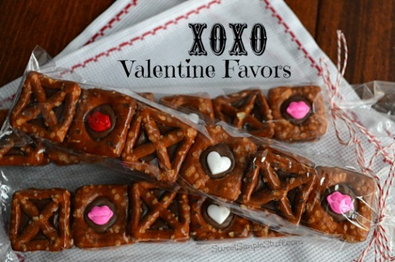 XOXO Valentine Favors - SweetSimpleStuff.com